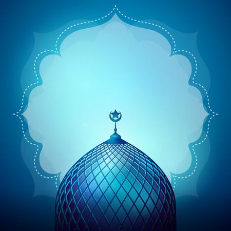 Islamitisch ontwerp banner achtergrond sjabloon Stock Illustratie