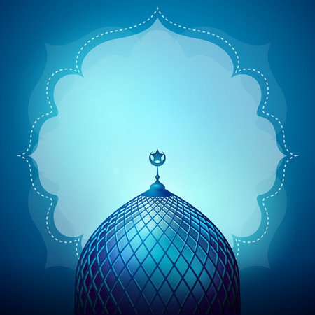 Islamic design banner background template