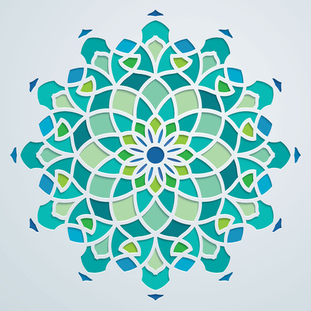Arabic pattern geometric ornate background