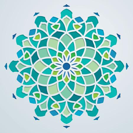 Arabisch patroon geometrische sierlijke achtergrond