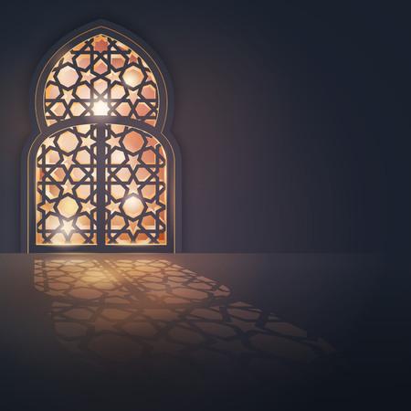 Islamic vector design greeting card background islamic design banner