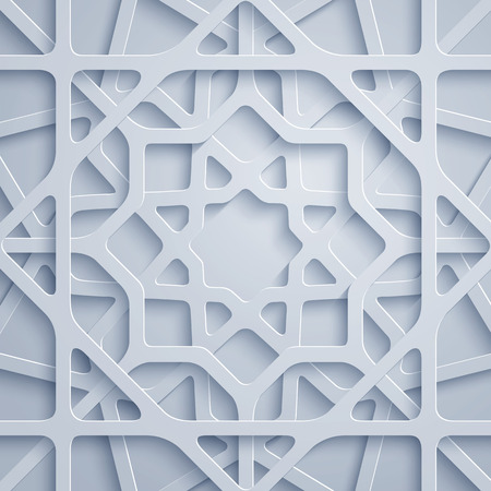 Arabic pattern geometric ornament