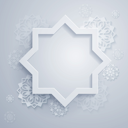 octogonal: Abstract background with octagonal and geometric ornament