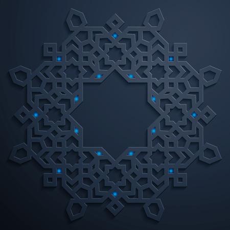 背景のアラビア語幾何学的な装飾模様