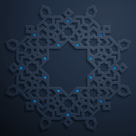 배경에 대한 아랍어 패턴 기하학적 장식 디자인