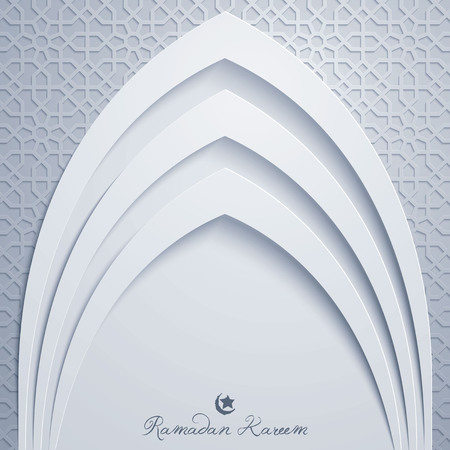 Ramadan Kareem greeting card template mosque door with arabic pattern illustration Фото со стока - 77746171