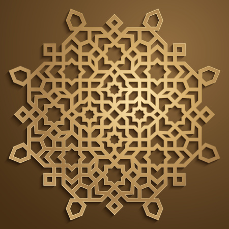 pattern: Gold morocco arabic ornament pattern