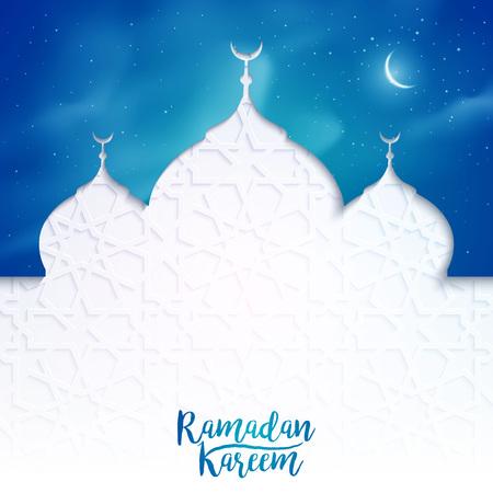 バナー背景イスラム ベクトル図を挨拶ラマダーン カリーム  イラスト・ベクター素材