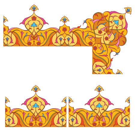 Arabic floral ornament for border pattern arabesque ornate