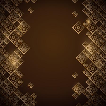 Arabic geometric pattern morocco ornament banner background Illusztráció