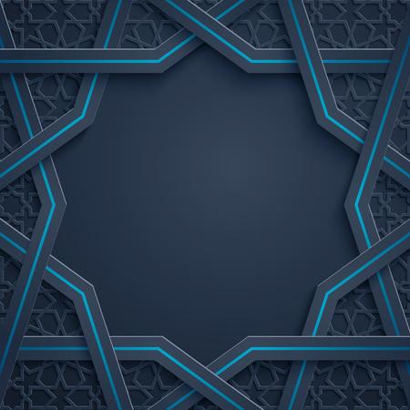 Arabic pattern - morocco geometric ornament banner background