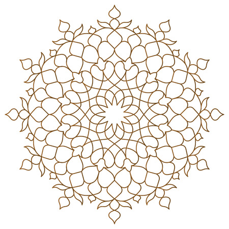 Arabic circle pattern monoline ornament Stockfoto - 101184673
