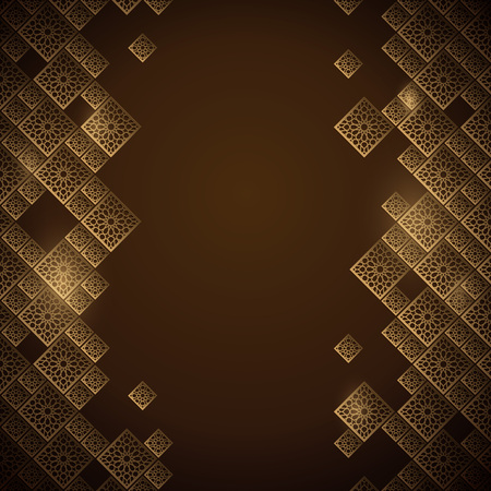 Arabic geometric pattern morocco ornament banner background  イラスト・ベクター素材