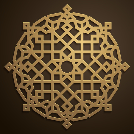Arabic geometric pattern morocco circle ornament 矢量图像
