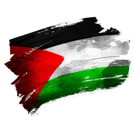 Palestine flas on ink brush