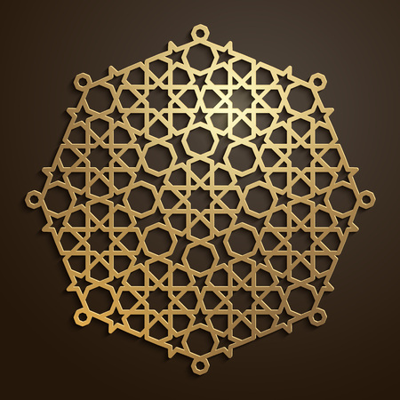 Arabic geometric pattern morocco oranment Illustration