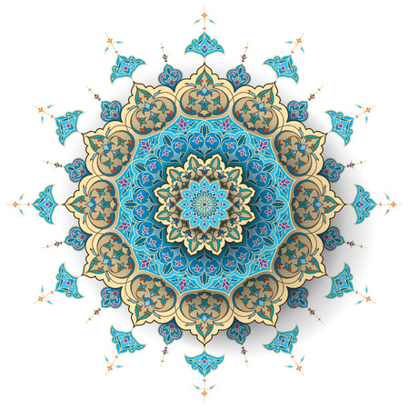 Arabic floral pattern islamic vector background Çizim