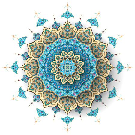 Arabic floral pattern islamic vector background Illustration