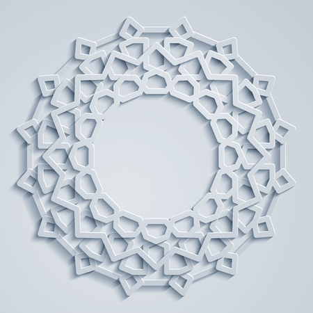 Geometric arabic circle pattern morocco ornament