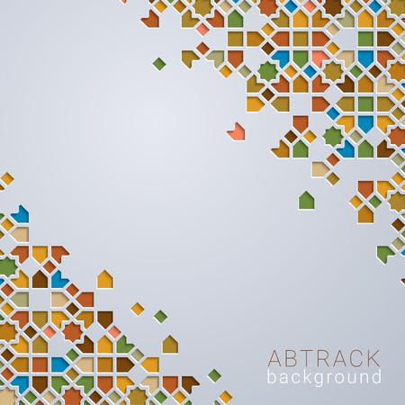 Sfondo astratto colorato con motivo geometrico marocchino Vettoriali