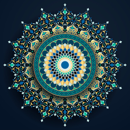 Arabic floral and geometric pattern moroccoan ornament for background