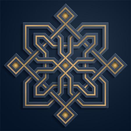 Arabic geometric pattern morocco ornament illustration