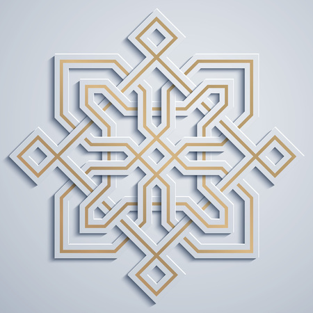 Arabisch geometrisch patroon Marokko ornament