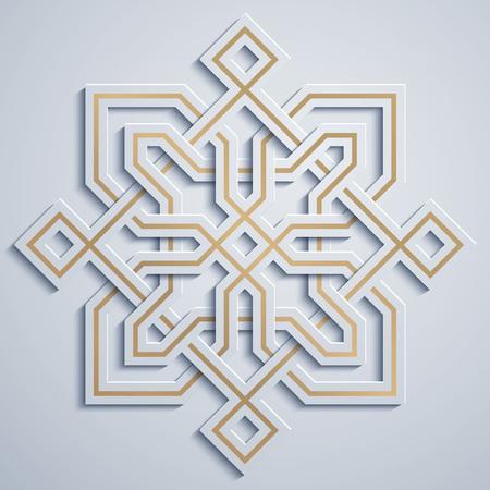 Arabisches geometrisches Muster Marokko Ornament