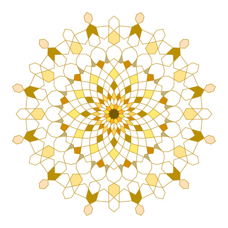 Circle line geometric ornament arabic pattern
