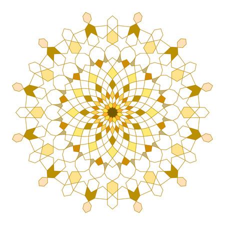 Circle line geometric ornament arabic pattern