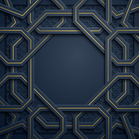 Abstract background with geometric arabic pattern