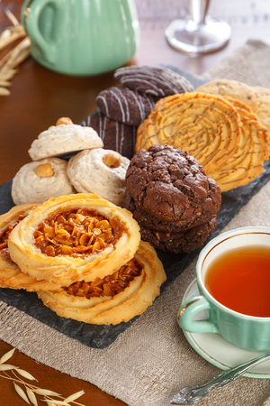 bap: Different kind of pastry served with tea