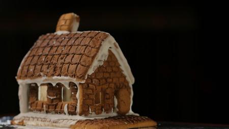 Gingerbread House Black Background