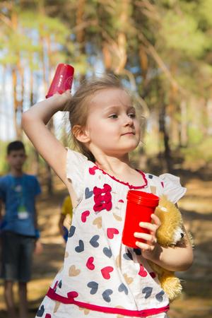 Purposeful Active Little Girl