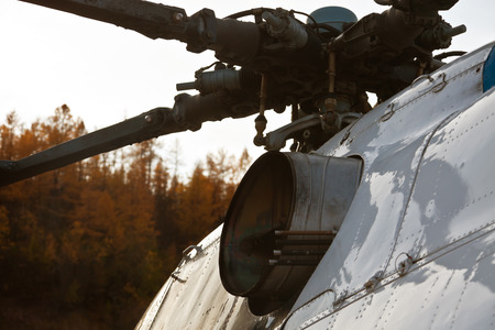 rotor: The rotor, the base of the blade and nozzle of the turbine of the Mi-8MT, Evenkiya, Siberia, Russia