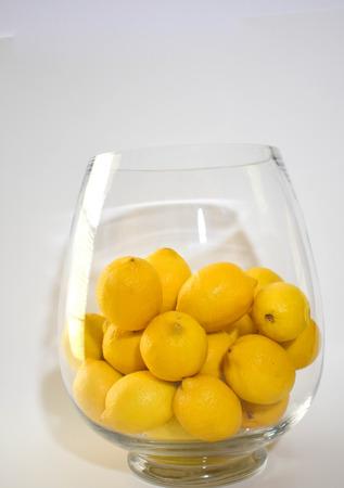 lemons in crystal vase Stock Photo - 104150729