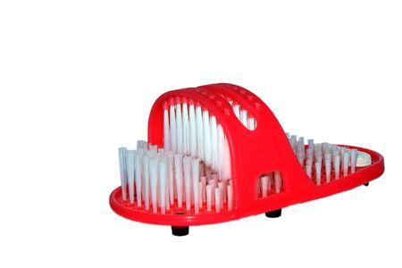 cherishing: Red slipper assigned for cherishing alloys Stock Photo