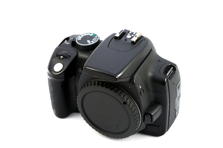 reflex: vecchia macchina fotografica reflex