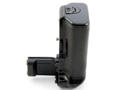 Vertical handle for reflex camera photo