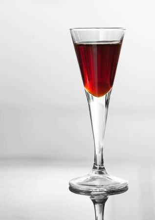 tincture: glass of cherry brandy tincture