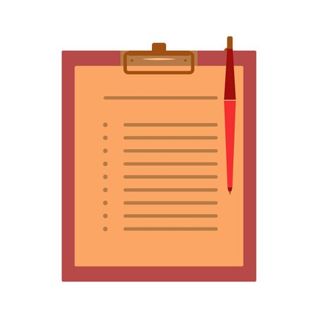 Medical record card for medical history, examinations and patient surveys complaints. Icon illustration
