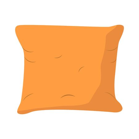 Comfortable fluffy pillow thin line icon. Modern illustration. The concept of sleep and rest