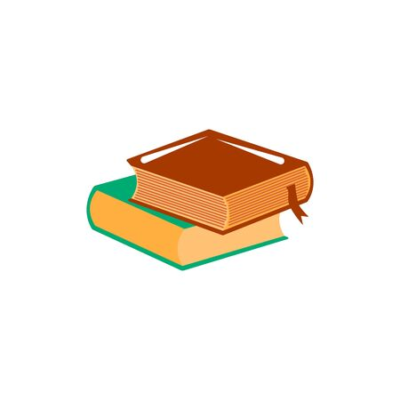Books. Vector object shape. Colorful vector illustration Stock Illustratie