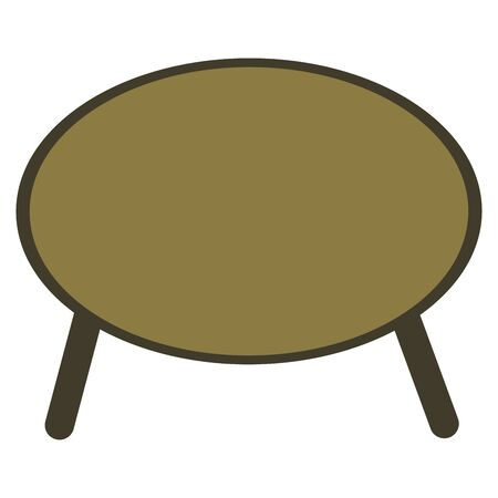 Round coffee table on legs. Cozy stylish piece of furniture for meetings with a cup of tea or other drinks