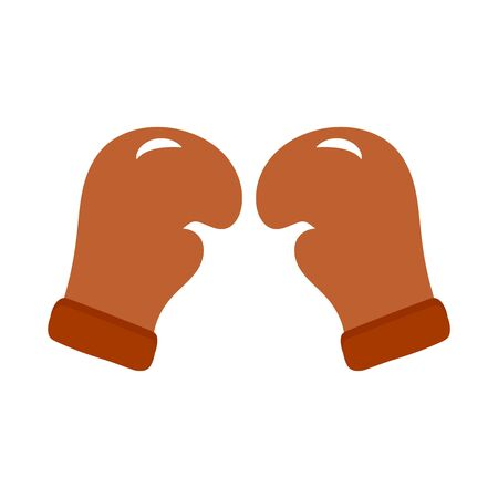 Boxing gloves on a white background. Concept of sports activities, equipment for a boxer. Illustration