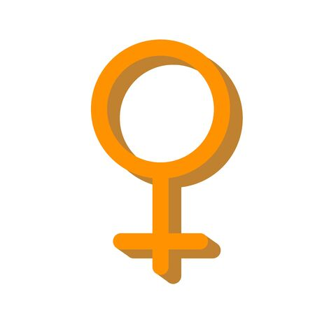 Icon of feminine belonging. Female sign. The fight for the right to equality. Girl power concept