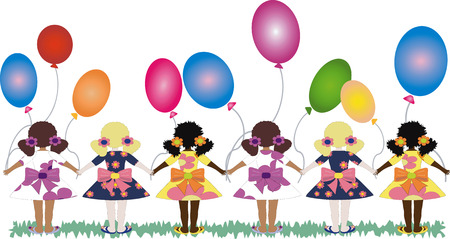 trini: Girls with balloons.