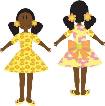 Girl in yellow dress Stock Vector - 7729798