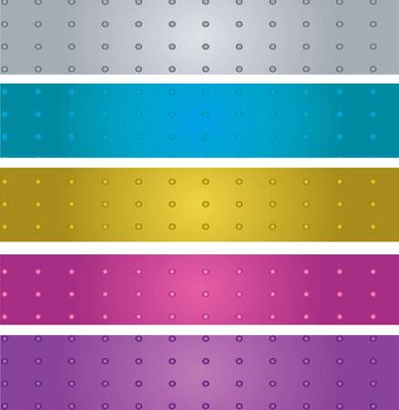 varicolored: Varicolored metal stripes