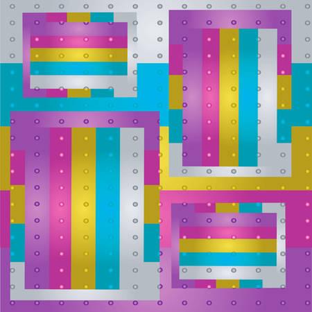 varicolored: Varicolored metal stipes. Illustration